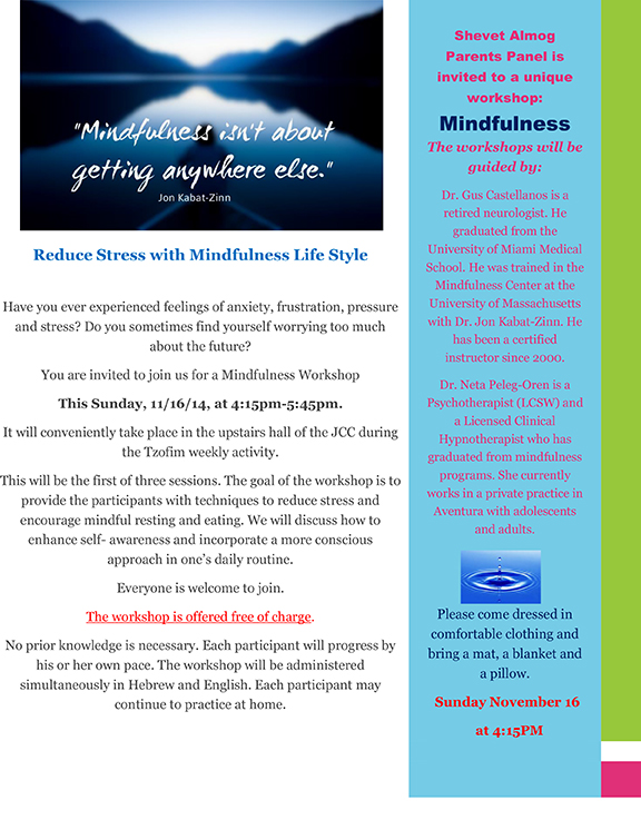 mindfulness zofim english